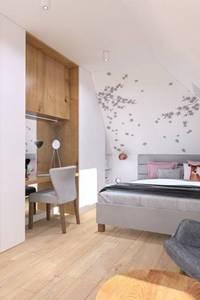 Nowoczesna Sypialnia z Akcentem Różu: styl , w kategorii  zaprojektowany przez Klaudia Tworo Projektowanie Wnętrz