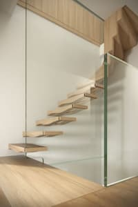 Pasillos, vestíbulos y escaleras de estilo moderno por Siller Treppen/Stairs/Scale