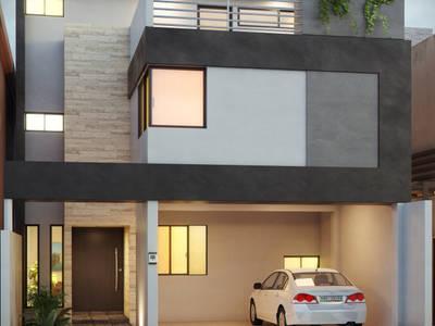 Casas de estilo minimalista por arQing