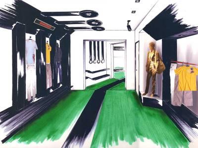 Boutique de prêt-à-porter: Locaux commerciaux & Magasins de style  par One look inside