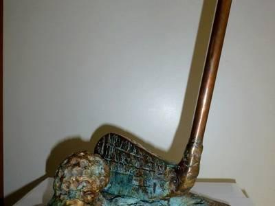 TROPHEE GOLF:  de style  par ROJO  Sculpture cuivre bronze