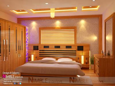 Modern Style Bedroom in Teak Wood:   by Nimble Interiors