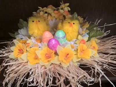 Easter chicks :   by L M B INTERIORS