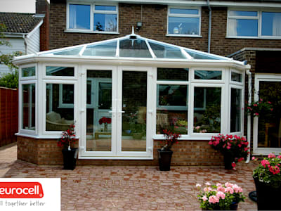 Glazed Conservatory Roofs: modern Conservatory by Premier Roof Systems