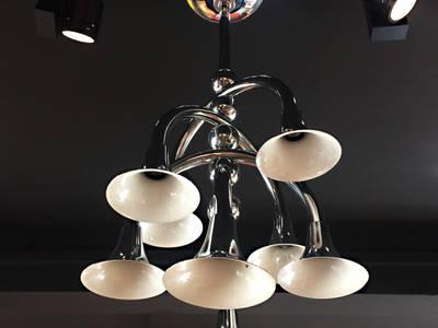 italienische Deeckenlampe im Stil von Goffredo Reggiani:   von RICCIO