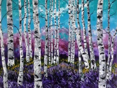 Purple Love:   by Indian Art Ideas