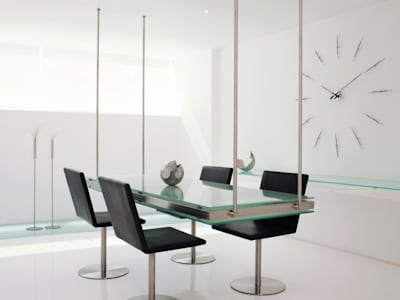 Nomon Merlin Mini 12 N - Walnut & Steel Wall Clock:   by Just For Clocks