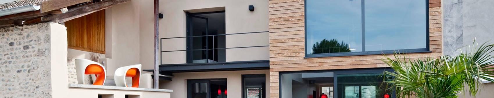 Maison de Village : Maisons de style  par Lautrefabrique , Moderne