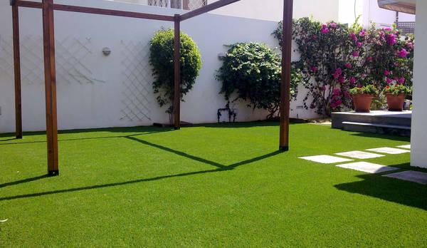 instalacin csped artificial sur de gran canaria jardines de estilo eclctico de ceramistas sau