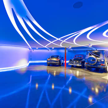 Garajes y galpones de estilo moderno por Tobias Link Lichtplanung