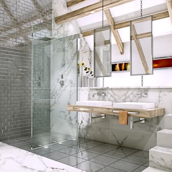 Baños de estilo moderno de Outsourcing Interior Design
