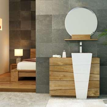 Meubles de salle de bains: Salle de bain de style de style Asiatique par kayumanifrance