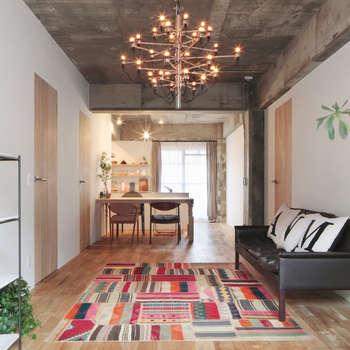 中京区の家/リビング ダイニング: 一級建築士事務所 こよりが手掛けたリビングです。