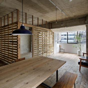 Projekty,  Jadalnia zaprojektowane przez 蘆田暢人建築設計事務所 Ashida Architect & Associates