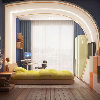 Фрагменты детских комнат в Баку: Детские комнаты в . Автор – ILKINGURBANOV Studio