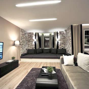 Квартира-студия: Гостиная в . Автор – Elena Arsentyeva