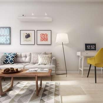 Salones de estilo escandinavo de INT2architecture