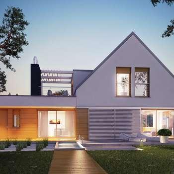 Projekt domu Neo G1 ENERGO : styl nowoczesne, w kategorii Domy zaprojektowany przez Pracownia Projektowa ARCHIPELAG