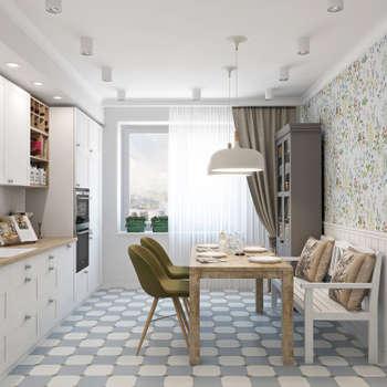 Скандинавское настроение: Кухни в . Автор – Ekaterina Donde Design
