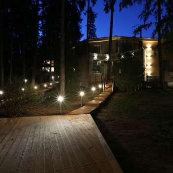 Главный дом в ночном освещение: Дома в . Автор – ORT-interiors