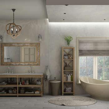 Baños de estilo ecléctico de Eclectic DesignStudio