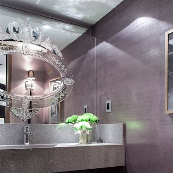 Projekty,  Łazienka zaprojektowane przez Flavio Moura Arquitetura