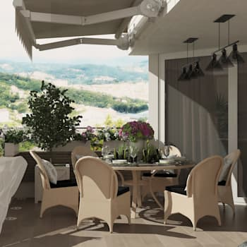 Терраса на крыше дома г. Сочи: Tерраса в . Автор – Студия дизайна Дарьи Одарюк