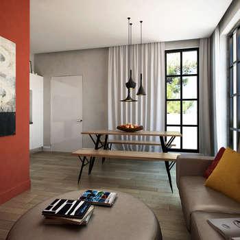 Квартира в Геленджике: Гостиная в . Автор – Porterouge Interiors \ Krasnye Vorota