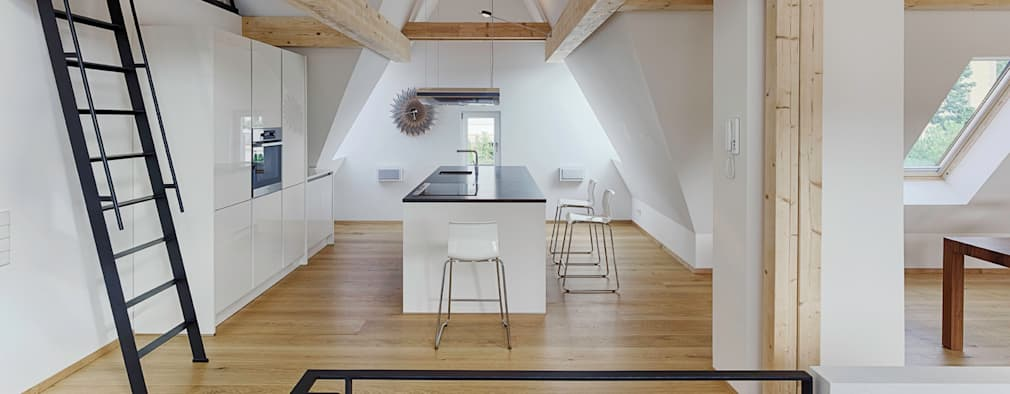 Dachgeschoss Ausbau: Moderne Küche Von PARTNER Aktiengesellschaft