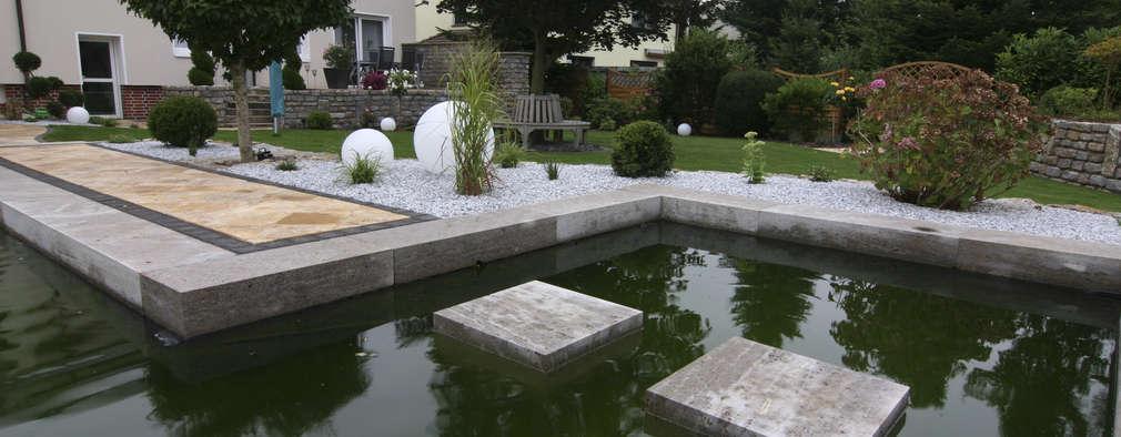 Projekty,  Oczko ogrodowe zaprojektowane przez Stein/Garten/Design e.K