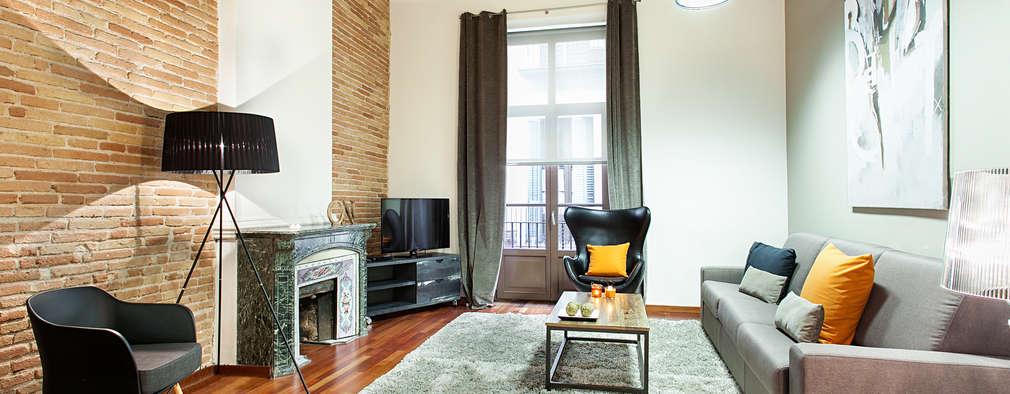 industrial Living room by Home Deco Decoración