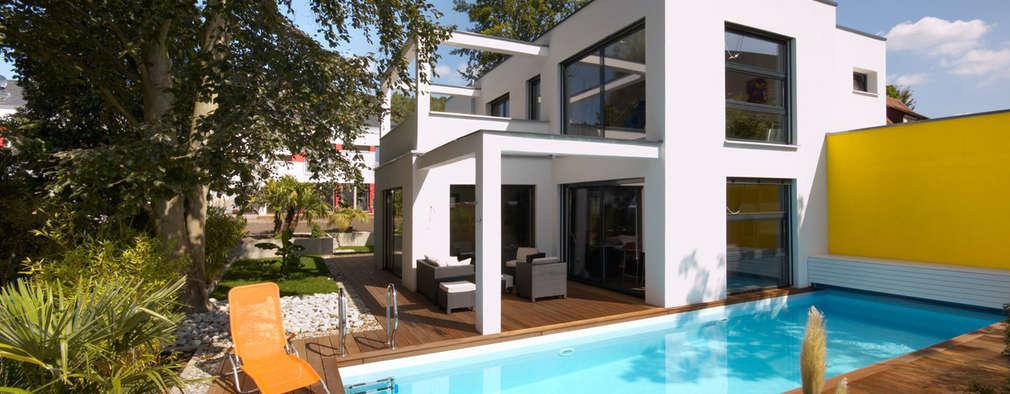 moderne Huizen door b2 böhme PROJEKTBAU GmbH