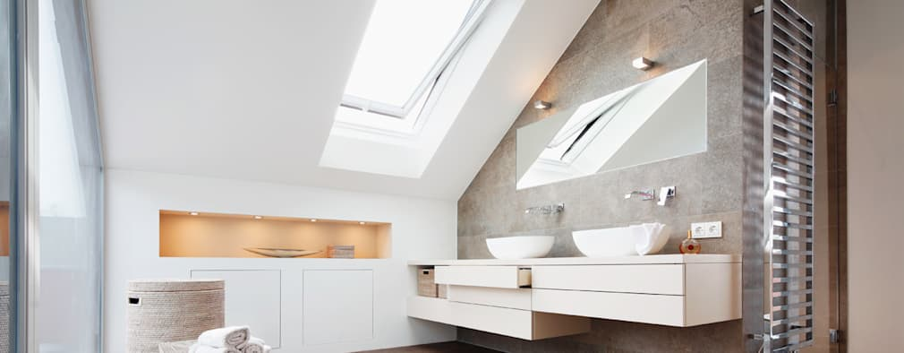 modern Bathroom by WSM ARCHITEKTEN