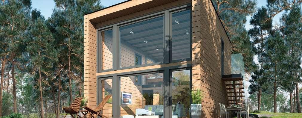 Chalets de estilo  por THULE Blockhaus GmbH