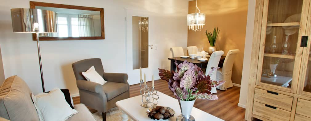 mediterranean Living room by ADANK Bauträgergesellschaft GmbH