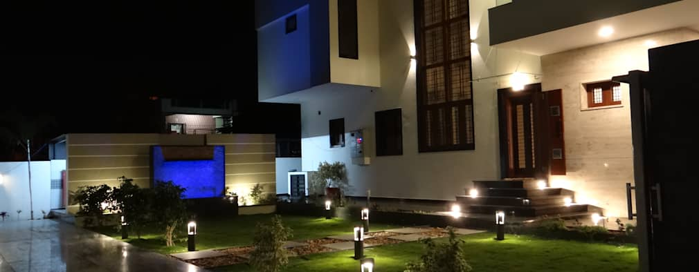 Residence of Mr.Chandru: modern Houses by Hasta architects