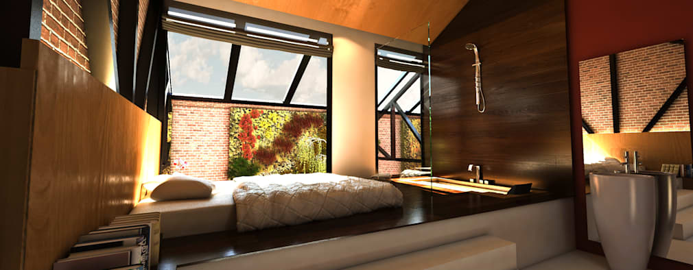 Habitaciones de estilo moderno por Luis Vegas
