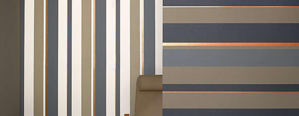 Pared a rayas horizontales o verticales - Papeles pintados rayas verticales ...