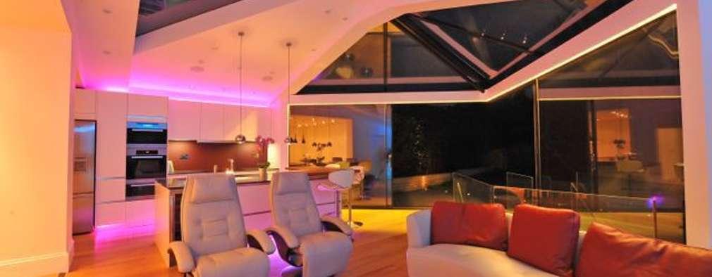 Projekty,  Salon zaprojektowane przez Paul Wiggins Architects