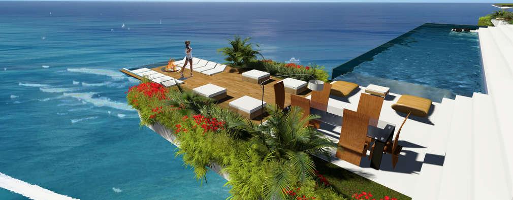 ระเบียง, นอกชาน by Guz Architects