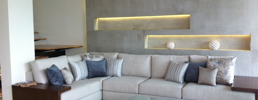 minimalistic Living room by GHT EcoArquitectos