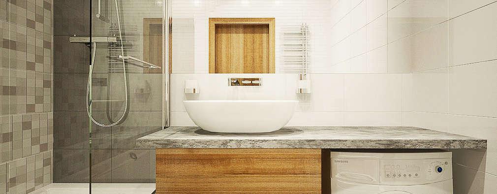 scandinavian Bathroom by Александра Петропавловская
