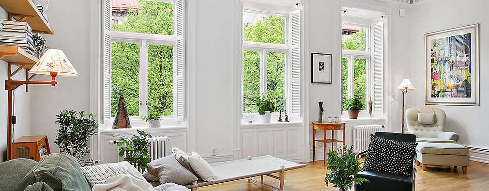 Salon de style de style Scandinave par Magdalena Kosidlo