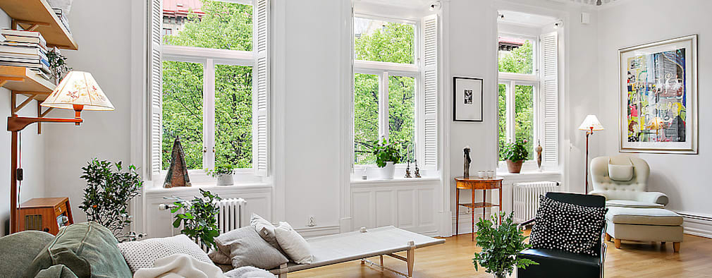 Salas de estilo escandinavo por Magdalena Kosidlo