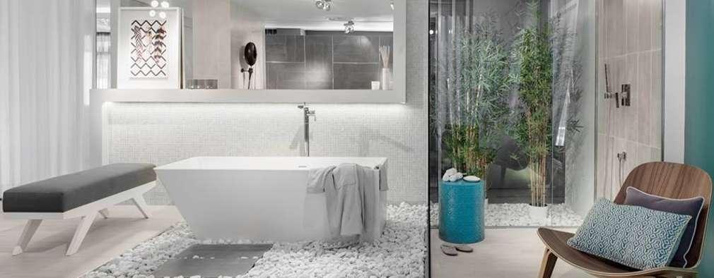 eclectic Bathroom by Ana Rita Soares- Design de Interiores
