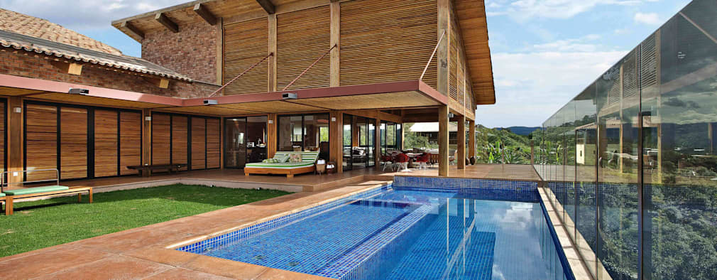 rustic Houses by David Guerra Arquitetura e Interiores