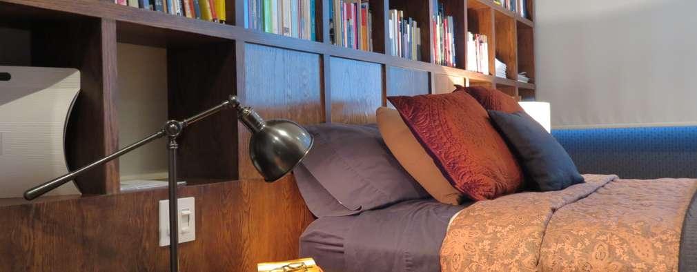 NIVEL TRES ARQUITECTURA: eklektik tarz tarz Yatak Odası