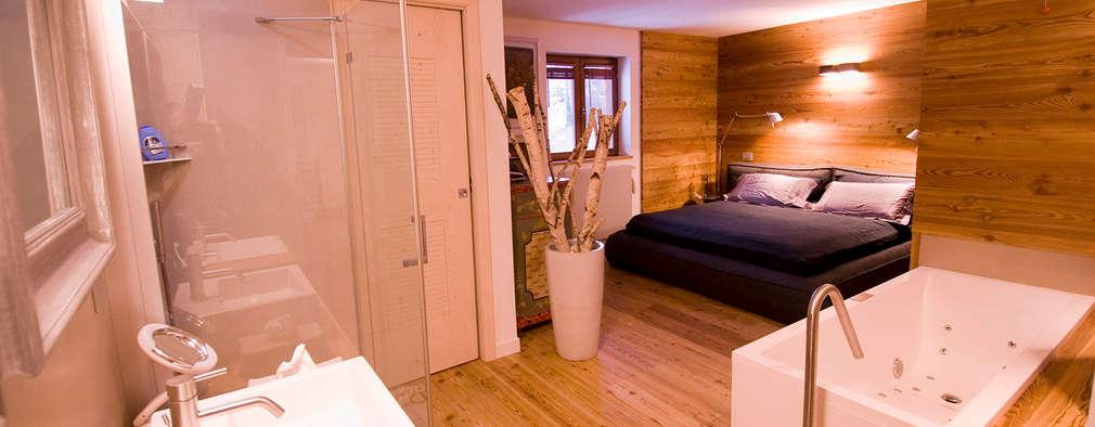 Projekty,  Sypialnia zaprojektowane przez Architetto Beltrame Claudio