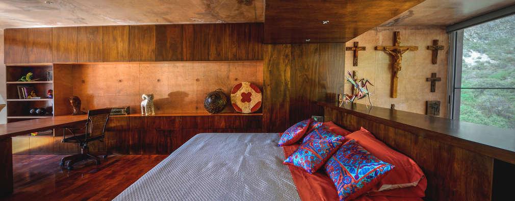 Dormitorios de estilo  por P+0 Arquitectura