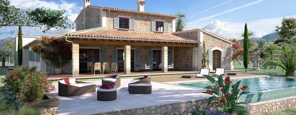 Casas de estilo rústico por Realistic-design
